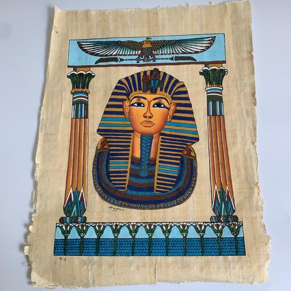 KING TUT Egyptian Handpainted Art on Papyrus